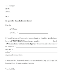 Requesting For Recommendation Letter Sample Request For Bank Reference Letter Template Form Sample Ooojo Co