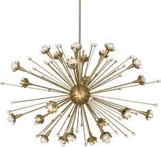 robert abbey jonathan adler large sputnik chandelier antique brass
