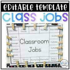 First Grade Classroom Job Chart Class Jobs Made Easy True Life Im A Teacher