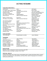 Theatre Resume Template Stunning 6424 Musical Theatre Resume Template Musical Theatre Resume Template