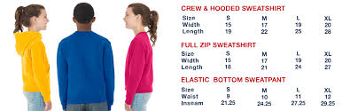 Jerzees Hoodie Size Chart Jerzees Youth Pullover Hood