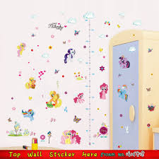 My Little Pony Wall Sticker Children Growth Height Measure