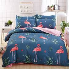 autumn and winter home bedding set blue love bed set flat sheet 3 4 pcs