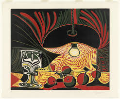 pablo picasso still life glass under the lamp nature morte  pablo picasso still life glass under the lamp nature morte au verre sous la lampe 19 1962