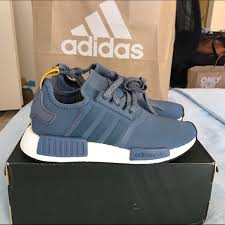 adidas shoes nmd blue. adidas nmd r1 blue women\u0027s size 6 shoes nmd