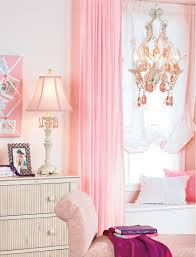 Bedroom:Girl Bedroom With Colorful Butterfky Wall Sticker And Pink Lamp  Shade Table Lamp Idea