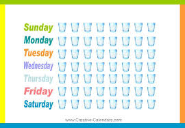Fluid Intake Chart Water Drinking Chart Tracking Drink More Water Chart