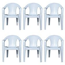 plastic lawn chairs. Perfect Plastic Indoor U0026 Outdoor White Plastic Lawn Chairs Garden Patio Armchair Stacking  Stackable  Inside