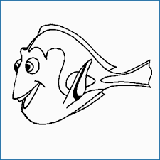 Dory Finding Nemo Coloring Pages Cute Free Printable Nemo Coloring
