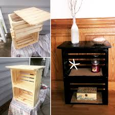 Diy Nightstand Diy Crate Nightstand 30 Pallet Craft Ideas Pinterest Crate