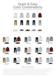 Quick And Easy Mens Casual Fashion Color Combination Chart