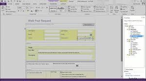 Infopath Form Templates Download Infopath Tutorial Understanding The Infopath 2013 Programs Lynda