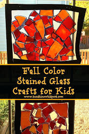 suncatchers stained glass fall color crafts for kids easy suncatcher patterns free