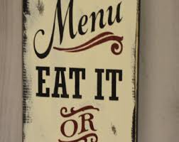 Decorative Signs For The Kitchen Todays menu sign Etsy 2