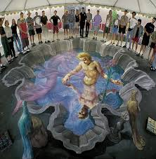 echo and narcissus pavement art gallery kurt wenner master  echo and narcissus pavement art gallery 3 kurt wenner master artist architect and street painter