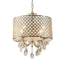 crystal chandelier modern drum chrome