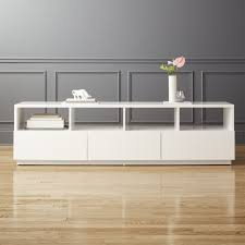 modern tv console. Chill Large White Media Console Modern Tv