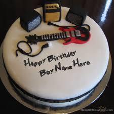 Write Name On Music Birthday Cake For Boys Happy Birthday Wishes