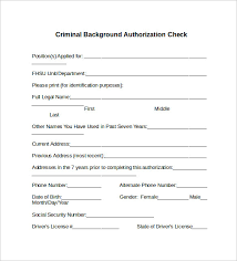 Criminal Record Template Background Check Form 7 Download Free Documents In Pdf Word