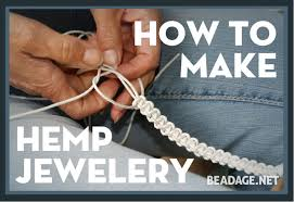 how to make hemp macrame jewelry