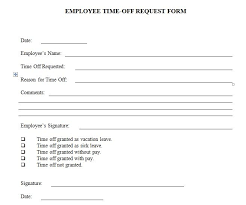 Paid Time Off Form Template Days Off Request Form Template Acepeople Co