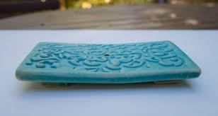 Seifenschale Schwammhalteruntersetzer Keramikgetöpfertornamente