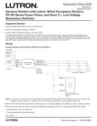 lutron v wallbox controls a power pack and wired vacancy solution lutron wired occupancy sensors pp