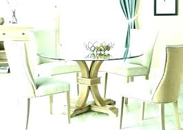 circle glass dining table and chairs glass top dining room set round dining table set for