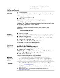 Sample Resume For Assistant Professor In India New Sample Faculty ...