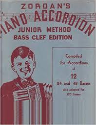 Zordans Piano Accordion Junior Method Bass Clef Edition