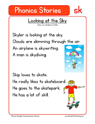 B, c, d activities which letter comes first? Looking At The Sky Sk Phonics Stories Reading Comprehension Worksheet Have Fun Teaching