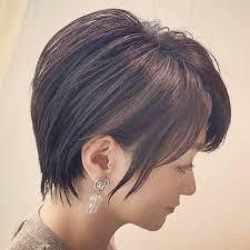 リフトアップ効果のある髪型ひし形シルエットのショートヘア Bump