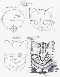 Adrons Art Lesson Plans How To Draw A Simple Kitten