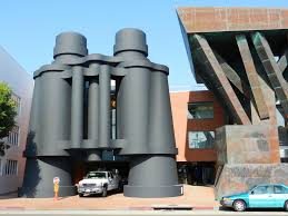 google main office. Take A Picture Next To These Giant Binoculars Aka Google Office On Main Str In Santa