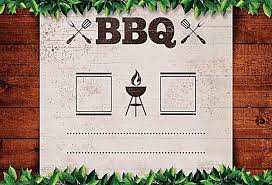 Bbq Poster American Casual Bbq Grill Poster Background Material American