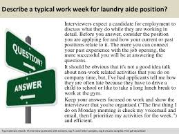 Laundry Aide | Resume CV Cover Letter