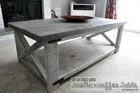 Artisan Des Arts DIY Oxidized Wood X Coffee Table .