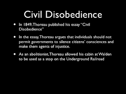 emerson and thoreau civil disobedience•