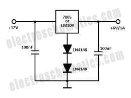 12v to 6v converter circuit 7805 12v to 6v converter circuit schematic