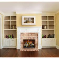 napoleon reversible propane vented gas log set with electronic ignition split wood view in fireplace