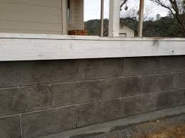 decorative concrete walls house skirt 2