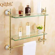 glass bathroom accessories. 2018 Clean And Elegant Bathroom Glass Shelf Cosmetics European Antique Accessories From Xwt5241, $156.27 | Dhgate.Com