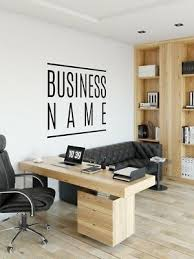 custom office wall sticker logo text