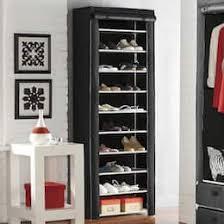 Shoe organizer furniture Bedroom 10layer Shoe Closet Country Door Bedroom Storage Shoe Organizer Rack Closet Stand Country Door