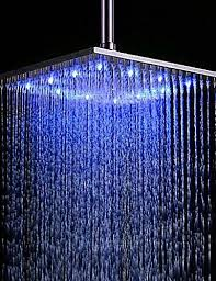 contemporary rain shower brushed feature rainfall led shower head