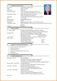 Resume Format Malaysia Resume For Your Job Application