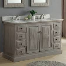 Distressed Bathroom Vanities Infurniture Rustic Driftwood Marble Quartz Double Sink And Innovation Design
