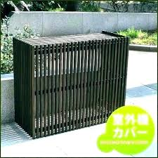 outdoor ac unit cover air conditioner wood decorative wall outside window covers for cars dogs c d