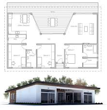 images about Home Plans  Single Story on Pinterest   Small    House Plan  Single Story Home Design  Floor Plan from ConceptHome com
