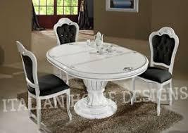 white italian furniture. Image Is Loading Prestige-Luxury-WHITE-Dining-Room-Table-and-4- White Italian Furniture